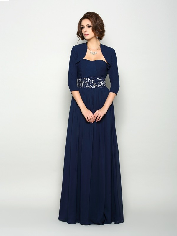 Stylish Chiffon 3/4 Sleeves Special Occasion Wrap