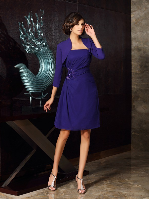Stylish 3/4 Sleeves Chiffon Special Occasion Wrap