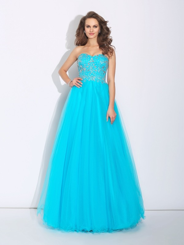 Glamorous A-Line Sweetheart Sleeveless Long Satin Dress