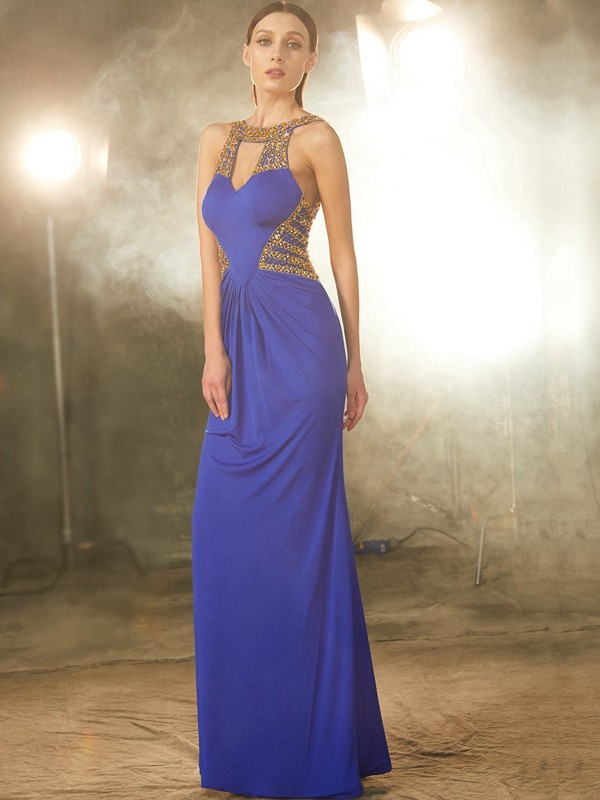 Best Sheath Scoop Sleeveless Floor-Length Spandex Dress