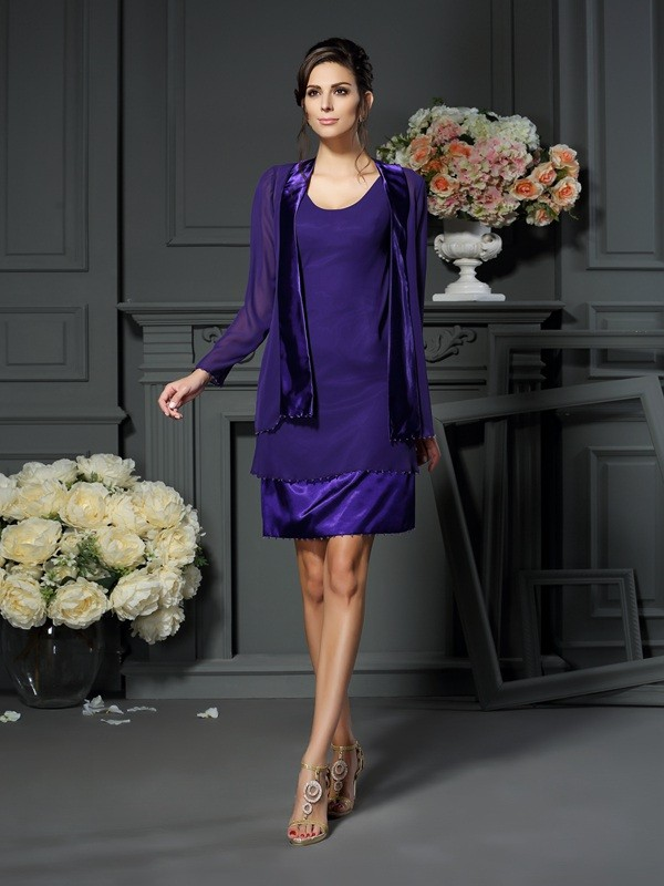 Chic Long Sleeves Chiffon Special Occasion Wrap