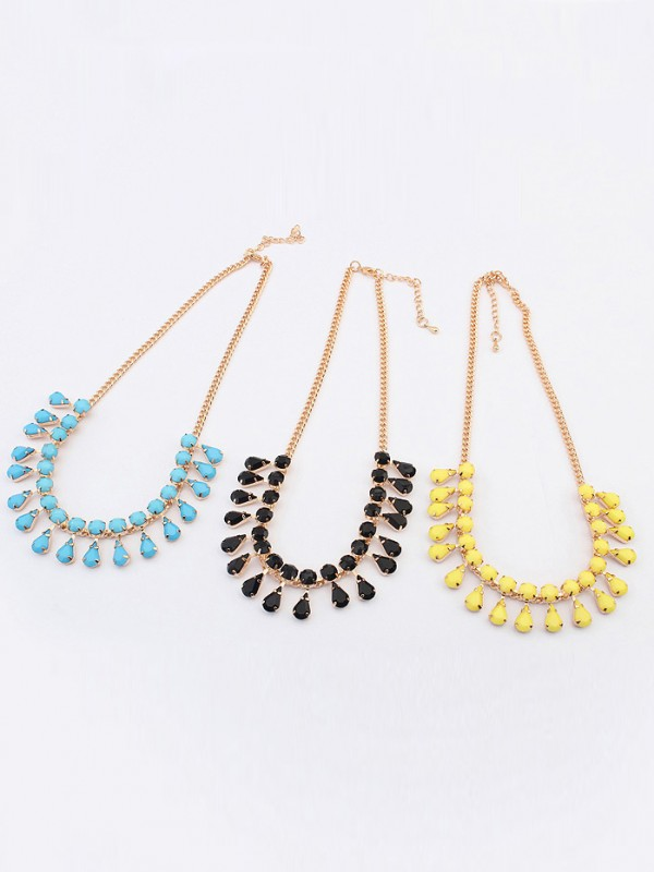 Stylish Occident all-match Water drop Temperament Necklace