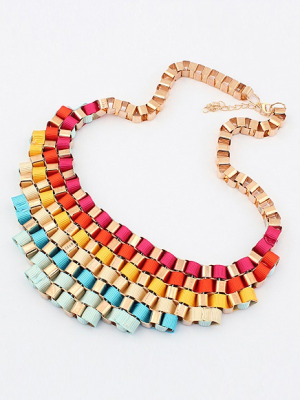 Stylish Occident Hyperbolic Colorful Stylish Street shooting All-match Necklace