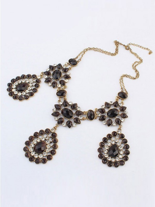 Stylish Occident Bohemia Retro Water Drop Necklace