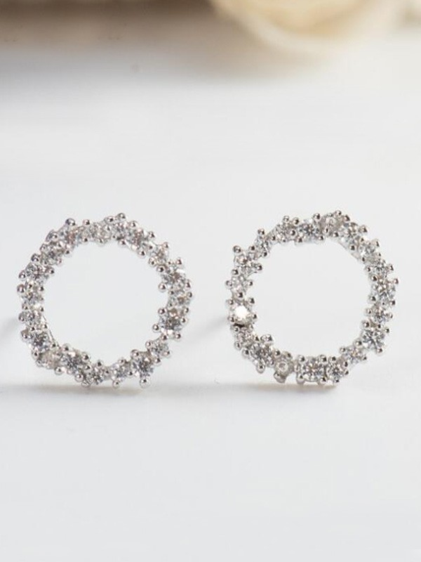 New Hot Sale Silver With Zircon Earrings