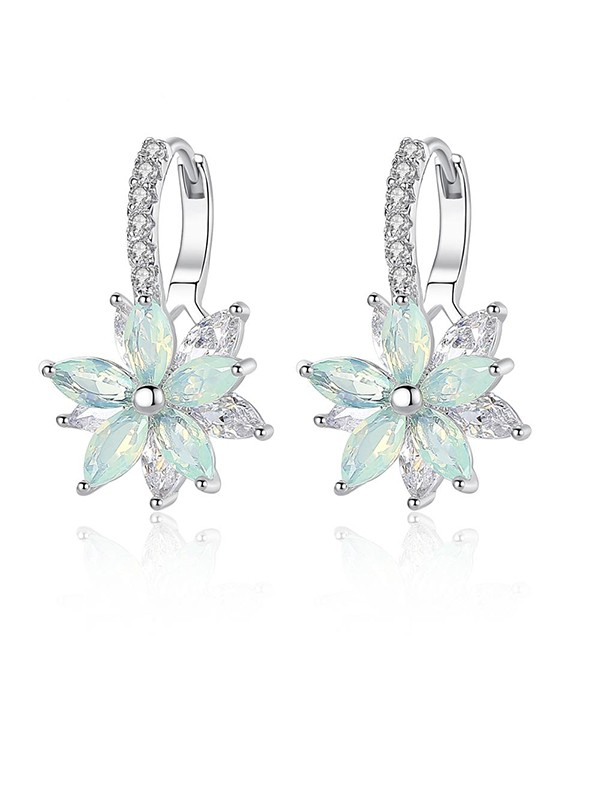 New Hot Sale Crystal With Flowers Earrings