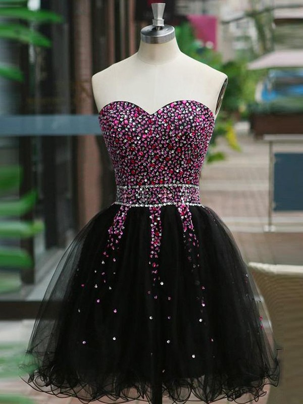 Beautiful A-Line Sweetheart Tulle Short Dress