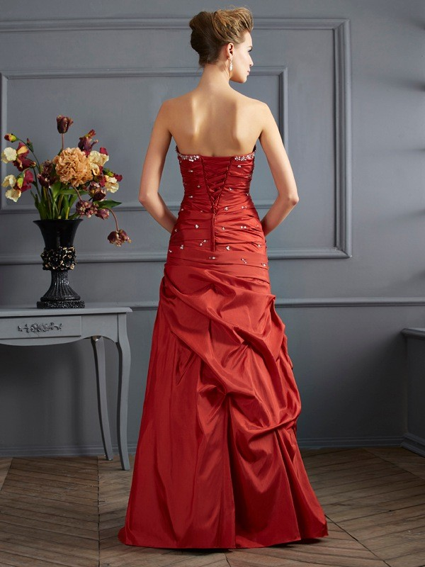 Stylish Mermaid Sweetheart Sleeveless Long Taffeta Dress