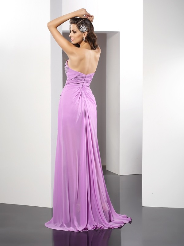 Gorgeous Sheath Sweetheart Sleeveless Long Silk like Satin Dress