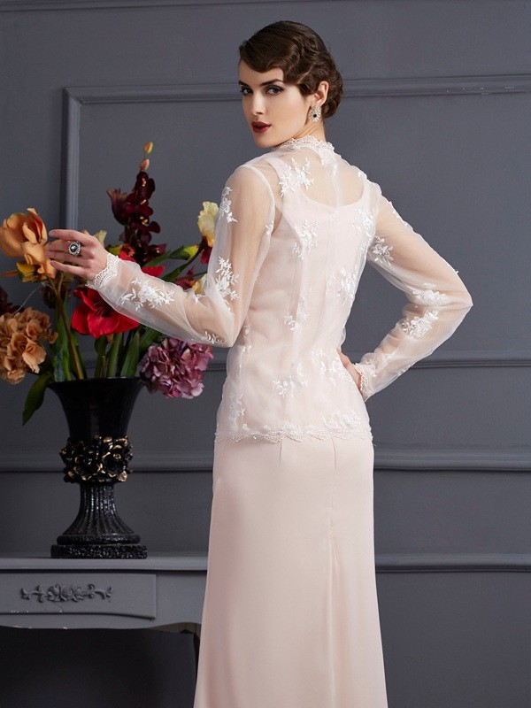 Chic Net Long Sleeves Special Occasion Wrap
