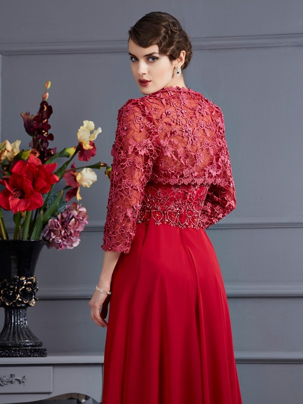Chic Net 3/4 Sleeves Special Occasion Wrap