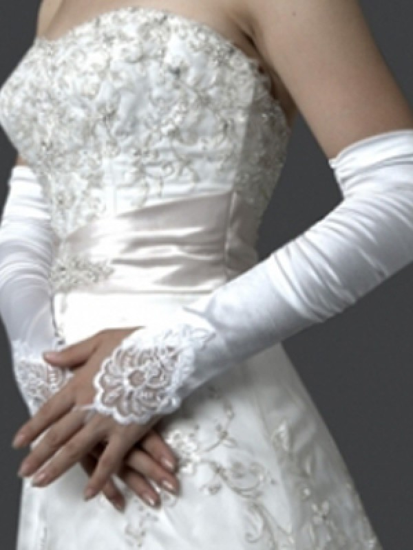 Beautiful Elastic Satin Elbow Glove