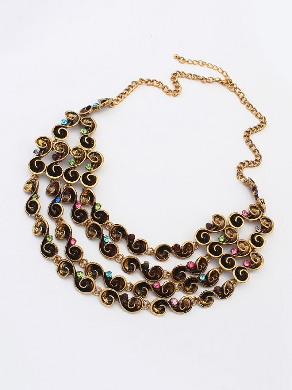 Stylish Occident Hyperbolic Personality multi-layered Necklace