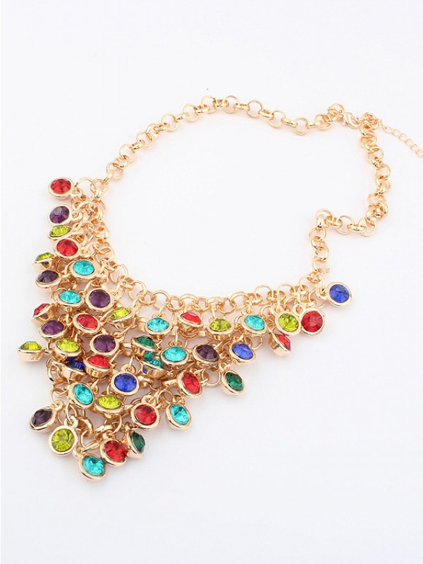 Stylish Korean version Colorful wafer curtain Stylish Necklace