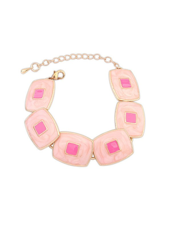 Gorgeous Occident Blocks Temperament Bracelet