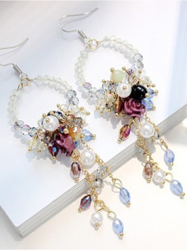 New Hot Sale Bohemia Style Crystal Earrings