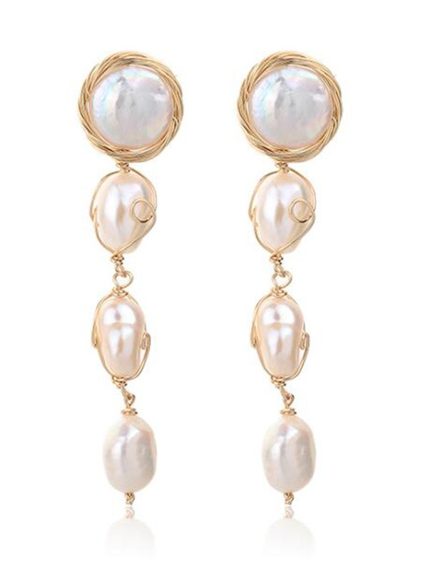 New Hot Sale Pearl Long Earrings