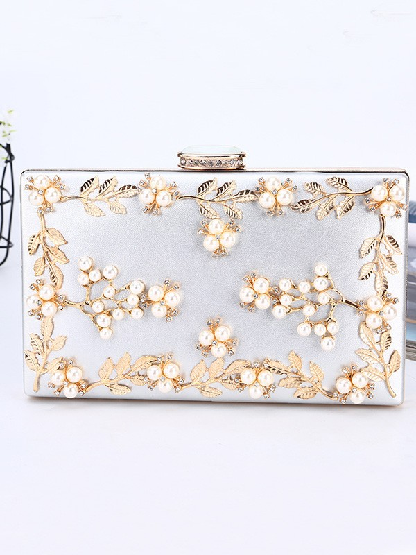 New PU Evening/Party Handbag With Beading