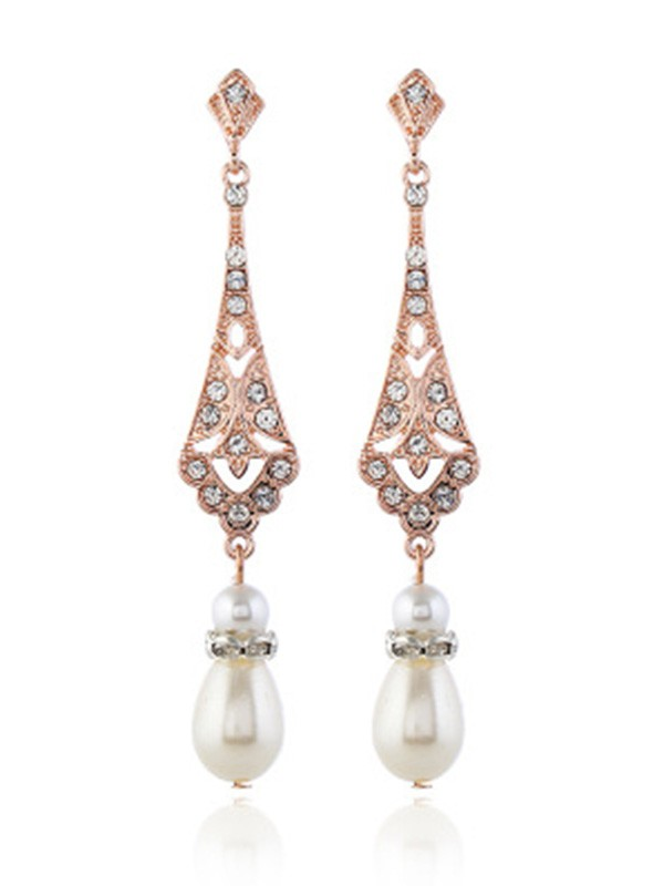 New Hot Sale Alloy With Pearl Earrings