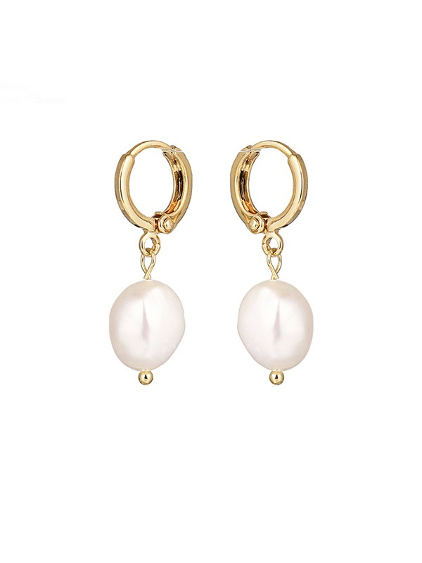 New Hot Sale Pearl With Copper Earrings
